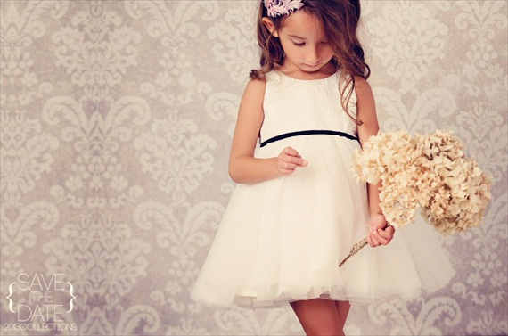 Ivory Flower Girl Dresses - tulle flower girl dress with velvet sash