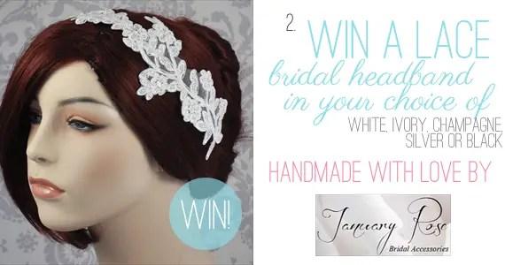 Holiday Giveaway at Emmaline Bride® - Day 2 - Bridal Headband by January Rose Bridal