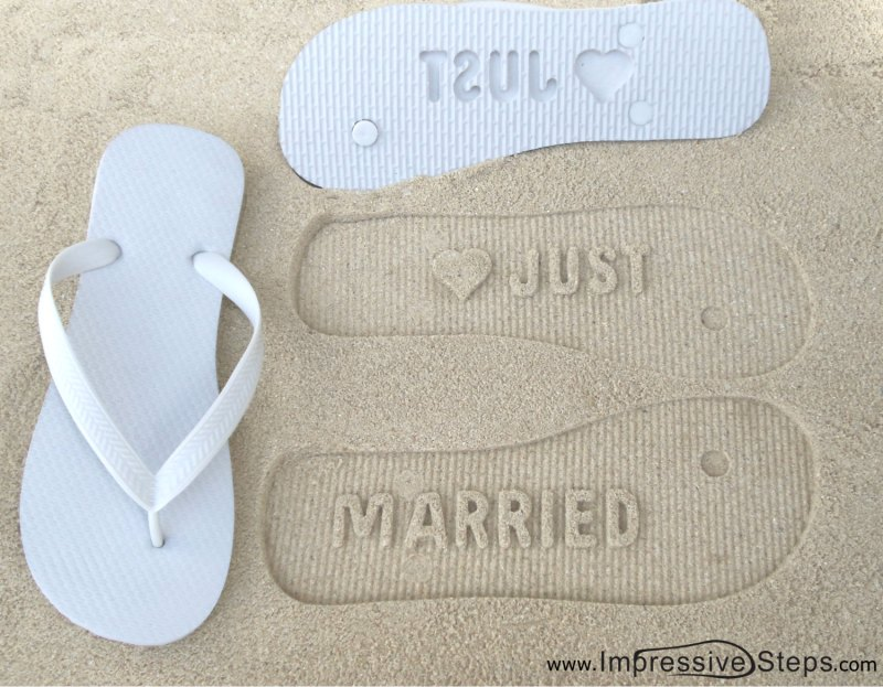 just married sandals