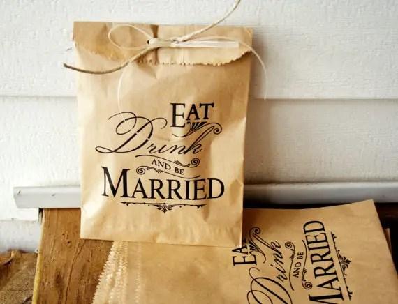 brown paper favor bags
