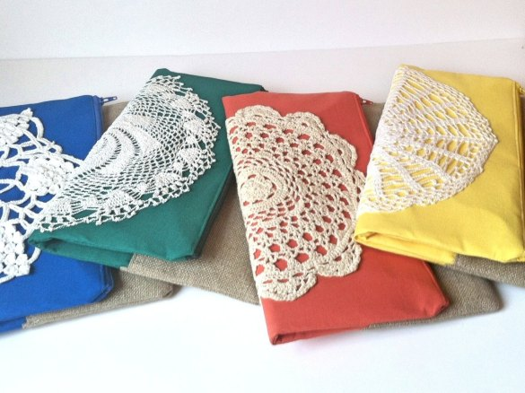 Vintage Lace Fold Over Purses