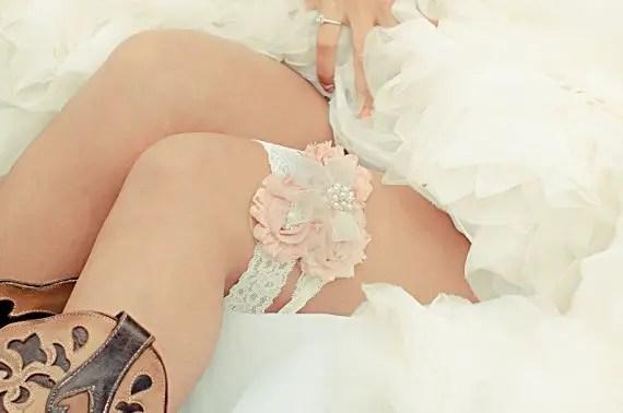 handmade wedding lace garter (nana rose designs) via The Marketplace at EmmalineBride.com