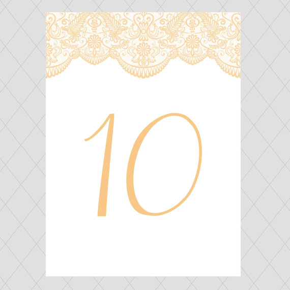 lace table numbers
