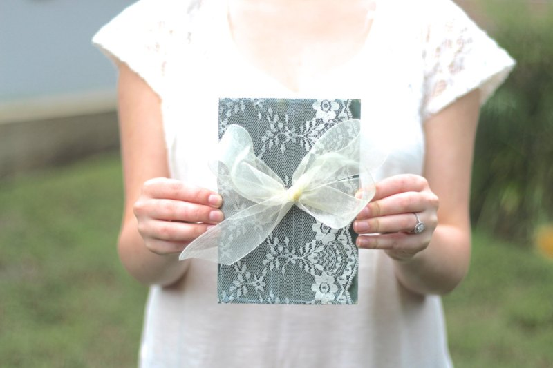 lace wedding guest book by the paper walrus