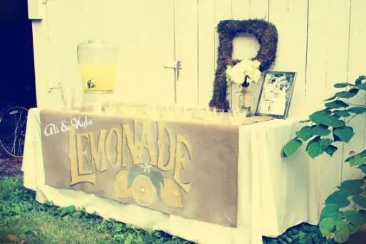 wedding lemonade stand