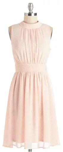 light-pink-short-bridesmaid-dresses