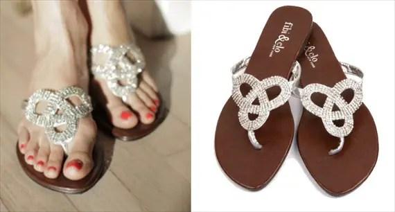 love knot summer sandals