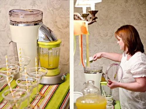 margarita maker for margarita bar wedding setup