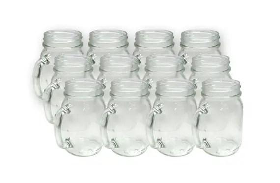 mason jar drinking mugs