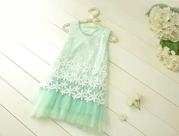 mint flower girl dress 1