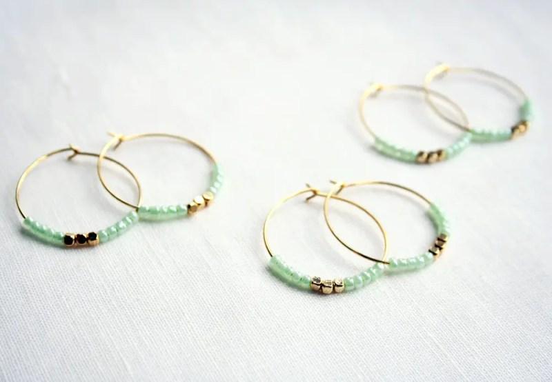 mint hoop earrings stocking stuffer via 5 under 25 jewelry gifts from laura stark