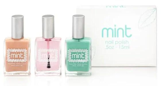 mint nail polishes essentials