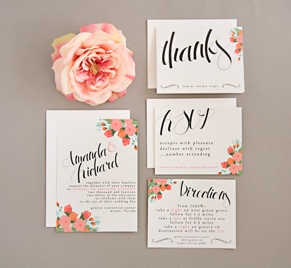 Whimsical Wedding Invitations From Splash Of Silver