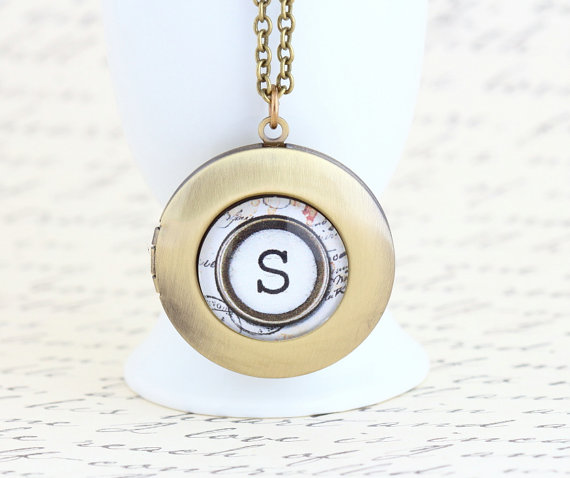 monogram locket