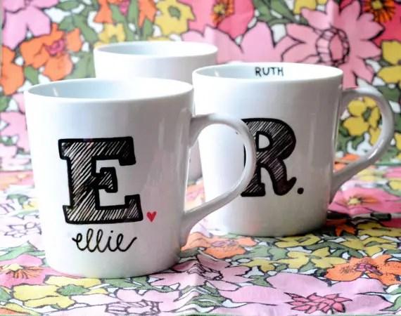 monogram mugs 2