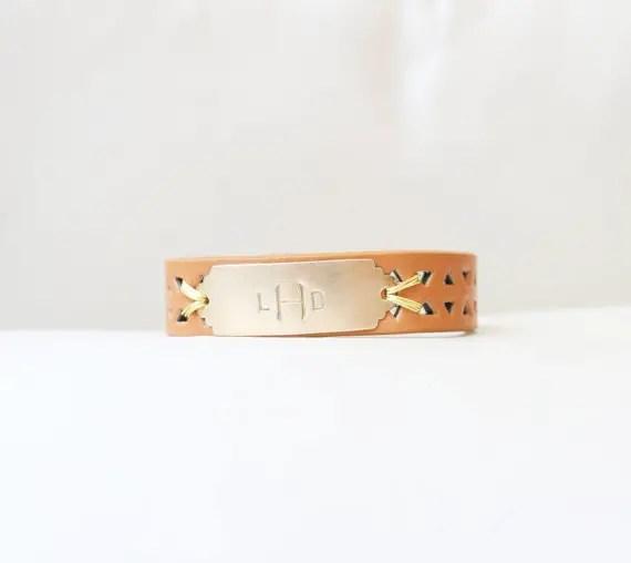 monogrammed bracelet orange