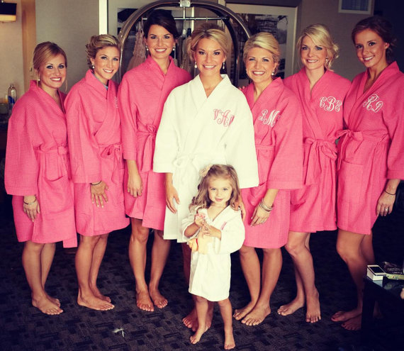 monogrammed bridesmaid robes | monogrammed bridesmaid gifts