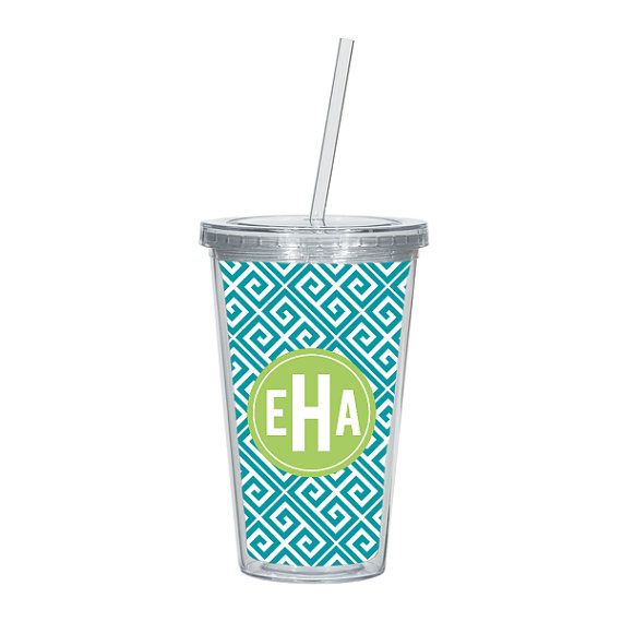 monogrammed travel tumbler | monogrammed bridesmaid gifts