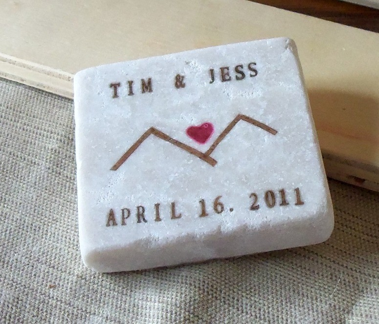 mountain save the date magnets | 50+ Amazing Mountain Wedding Ideas http://emmalinebride.com/rustic/mountain-wedding-ideas/