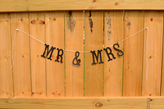 rustic wedding banners