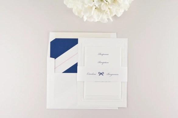 Navy Blue Wedding Invitations by Dear LC