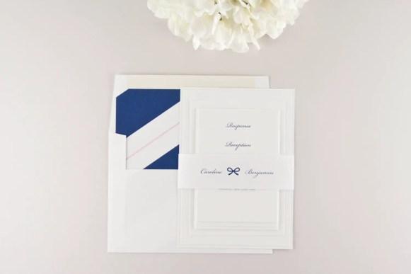 navy blue wedding invitations 2