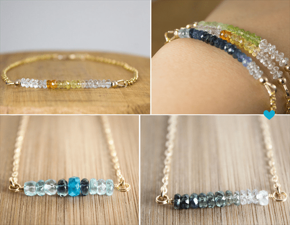 Ombre Necklaces and Bracelets (by OhKuol)