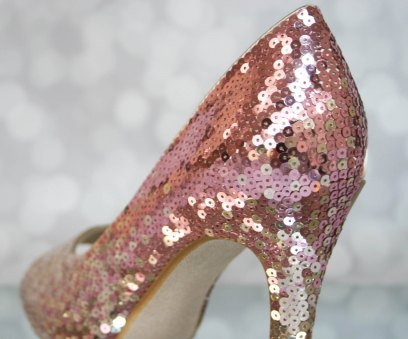ombre sequin jeweled wedding shoes