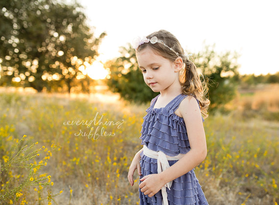 orchid ruffle flower girl dresses