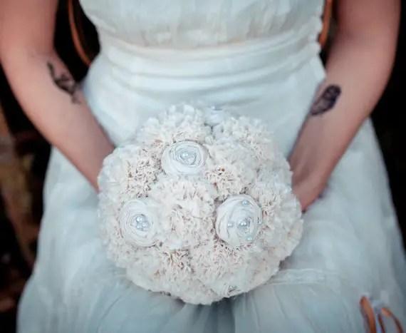 Eco Wedding Ideas - wedding bouquet by autumn and grace bridal