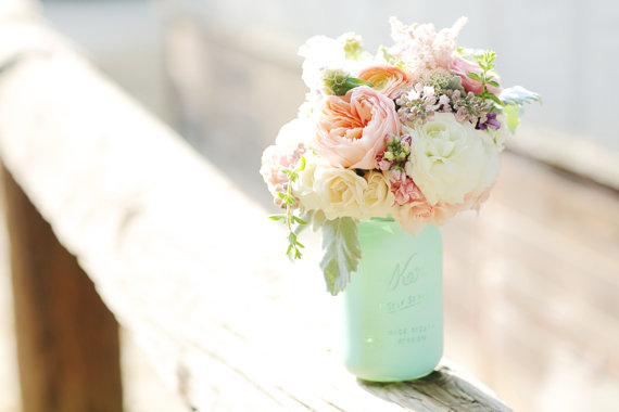 What's Hot in The Marketplace - 9.12.13 - painted mason jar vase by beach blues, photo by melania marta