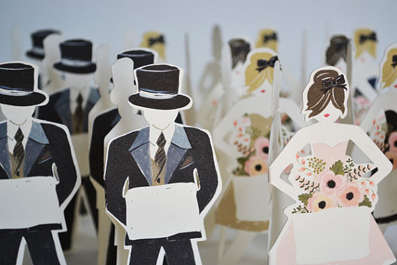 paper doll place cards