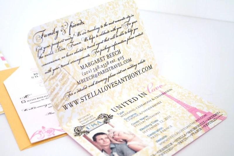 passport to love invitations | invitations destination weddings - http://emmalinebride.com/invites/invitations-destination-weddings/