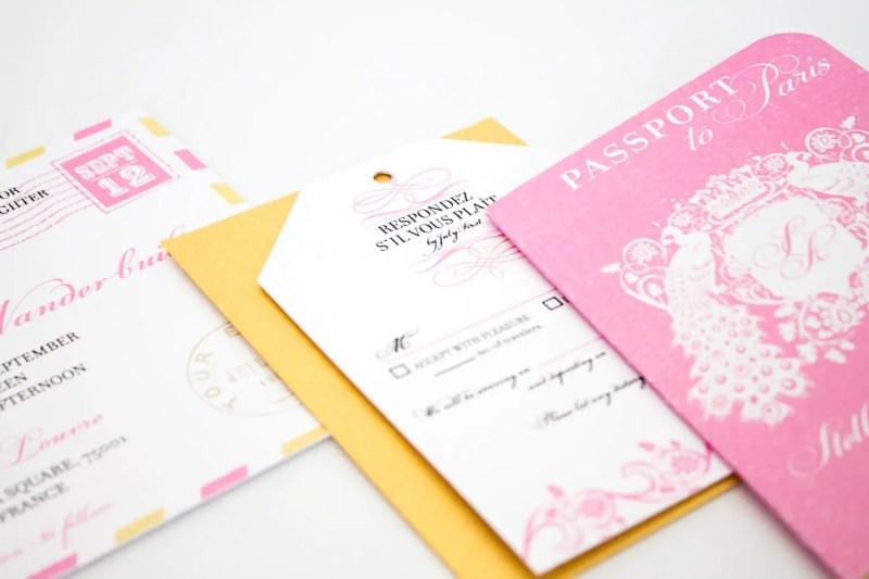 passport to love paris wedding invitations | invitations destination weddings - http://emmalinebride.com/invites/invitations-destination-weddings/