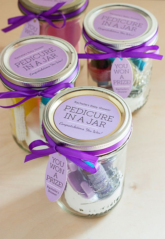 pedicure in a jar | bachelorette spa party http://emmalinebride.com/bachelorette/spa-party/