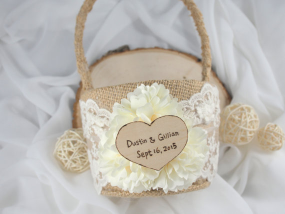 personalized flower girl basket | ceremony accessories weddings https://emmalinebride.com/ceremony/ceremony-accessories-weddings/