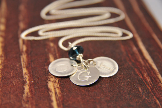 Wedding Jewelry for Mom - personalized initial necklace (by lillyput lane design co.)