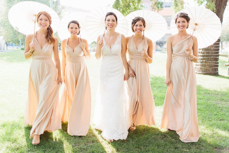 Multi wear bridesmaid dress in Pink