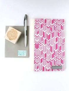 portfolio organizer - pink arrows