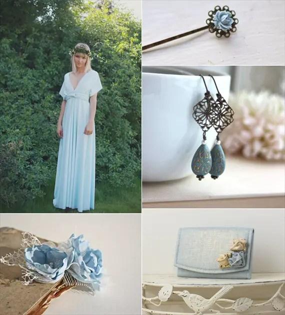 powder blue wedding accessories
