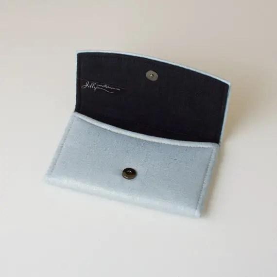powder blue wedding clutch purse open