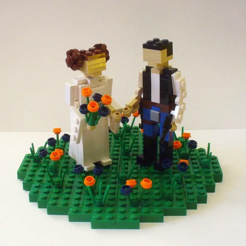 lego wedding cake toppers - princess leia