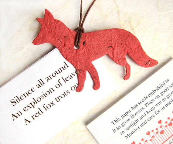 printable fox seed favors by recycledideas