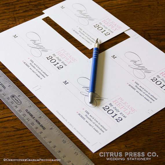 Win a FREE Printable Wedding Invitation (invite by Citrus Press via EmmalineBride.com)