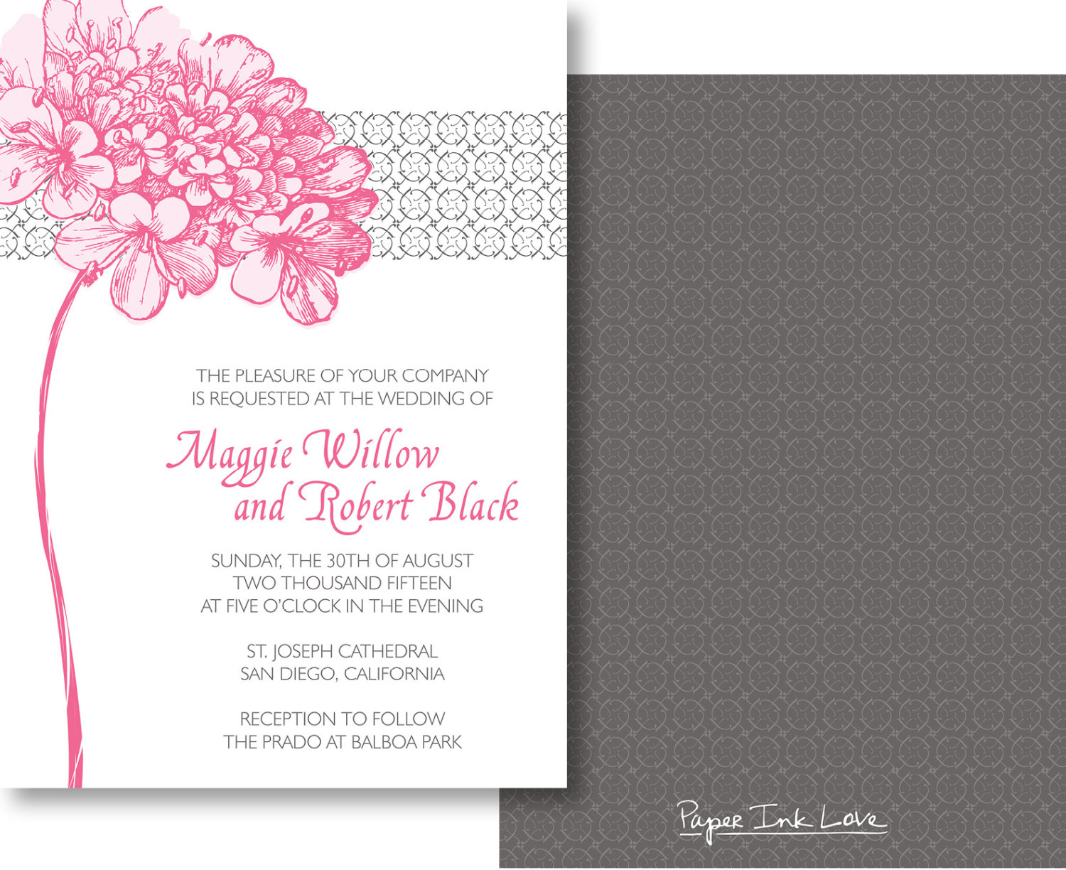 Attractive Printables   For When You Need Wedding Invitations Fast