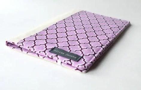 purple lattice wedding portfolio organizer