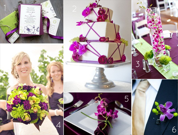 wedding ideas with purple theme orchid wedding theme ideas in purple and green color palette 28363