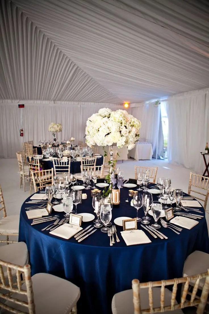 Navy and White Wedding Ideas  Emmaline Bride