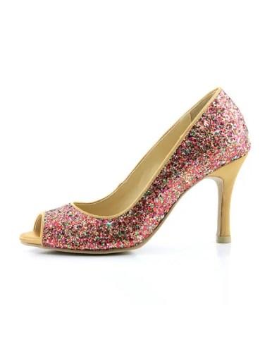 red glitter heels