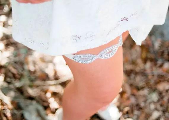 sparkly garter with rhinestones